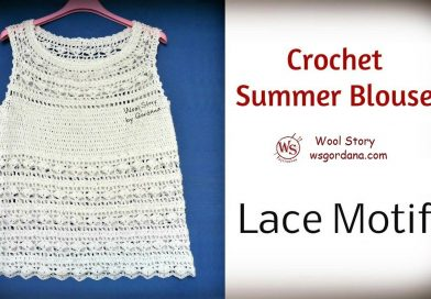 149 – Crochet White Blouse