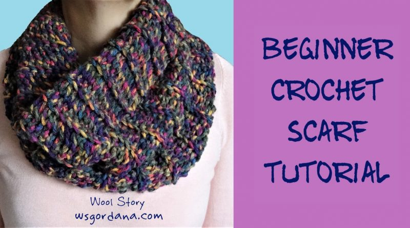 Diy How To Crochet A Circle Scarf Wool Story By Gordana
