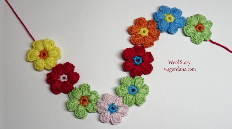 218 – Crochet Puff Flowers
