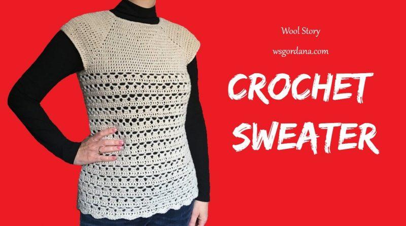 219 – DIY Tutorial Crochet Sweater Top to Bottom