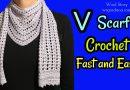 221 – Crochet Triangle Shawl – V Scarf