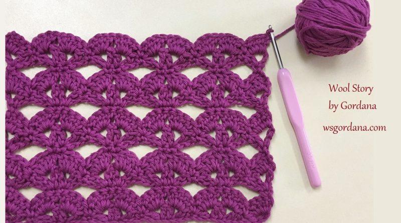 Diy Crochet Lace Stitch Pattern Wool Story By Gordana