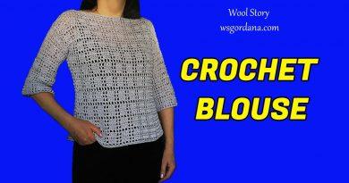234 – DIY Tutorial Crochet Lila Blouse Top
