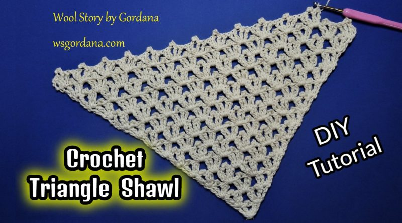235 – DIY Tutorial Crochet Triangle Shawl Stitch