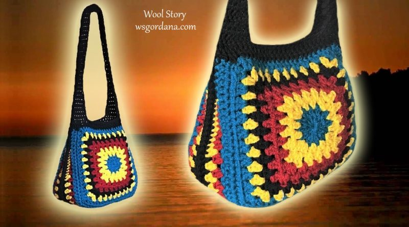 236 – DIY Tutorial Crochet Granny Square Handbag