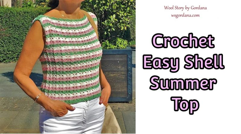 246 – Colorful Crochet Shells for Top – Blouse