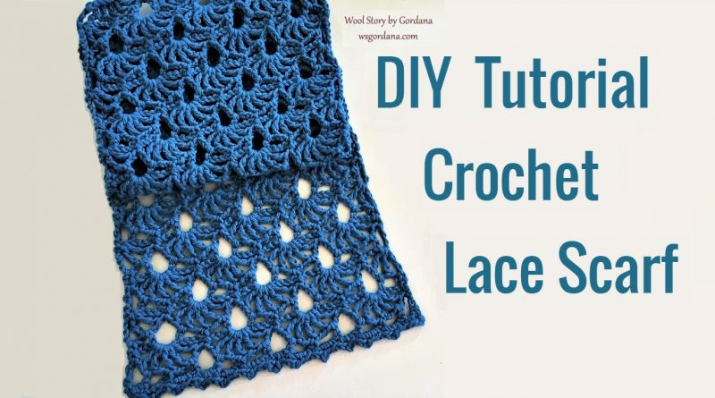 250 – Crochet Lace Scarf Tutorial – Shell Stitches