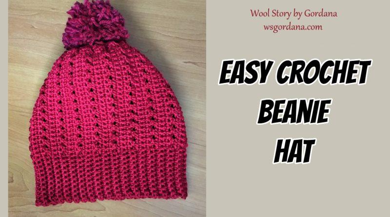 251 – Easy Crochet Beanie Hat – DIY Tutorial