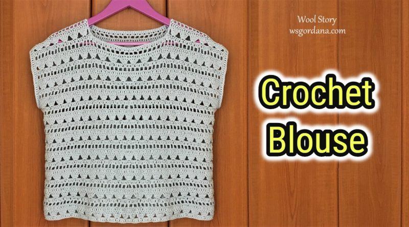 252 – DIY Tutorial Crochet Easy Lacy Blouse