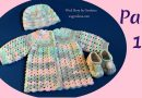 256 – How to Crochet Baby Sweater Jacket 3-6 months – Part 1