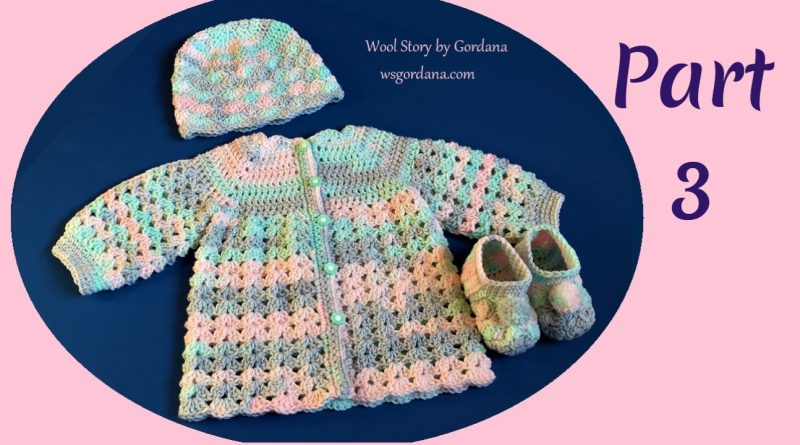 258 – How to Crochet Baby Booties – 6 months – Part 3