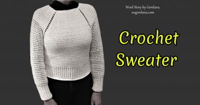 260 – DIY Crochet Sweater top to bottom with sleeves