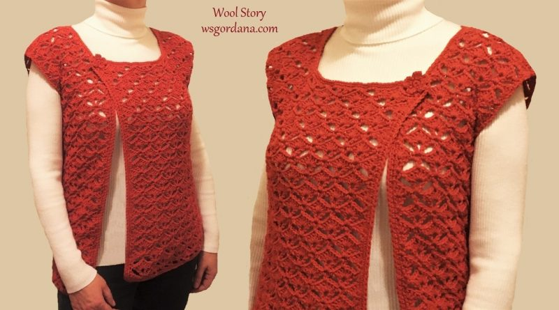 263 – Crochet Lace Vest Tutorial
