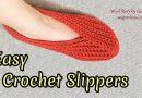 269 – Easy Crochet Slippers Tutorial