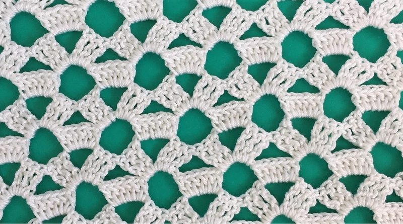 270 – Tutorial How to Crochet Lace Flower Pattern