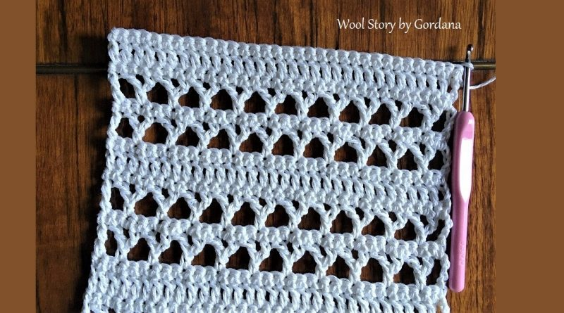 274 – DIY Tutorial Crochet Lace Pattern for a blouse, scarf, vest and many other things