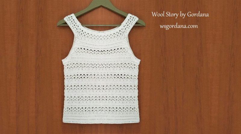 285 – Crochet White Summer Top – Tutorial