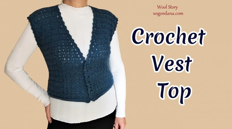 300 –  How to Crochet Vest Top   Shell Stitch Pattern