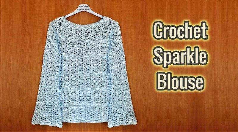 306 – Crochet Sparkle Blouse for Ladies