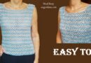325 –  EASY CROCHET SUMMER TOP TUTORIAL |for all sizes|