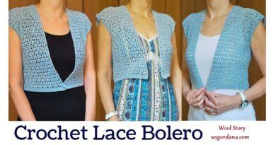 326 – Crochet Simple Summer Lace Bolero